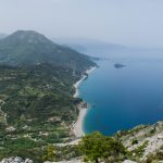 Over Chiliadou beach, Evia